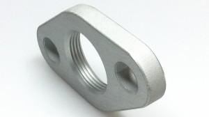 Gewindeflansch aus Aluminium t=8mmeloxiert
