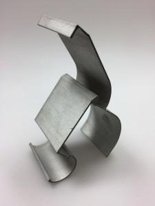Prototyp Haltelasche Aluminium t=40mm